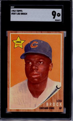 1962 Lou Brock Topps RC