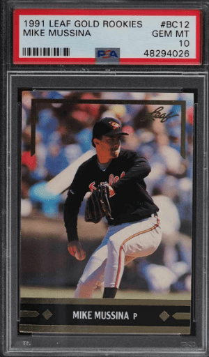 1991 Mike Mussina Leaf Gold Rookies