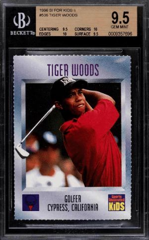 tiger woods rookie card sports illustrated