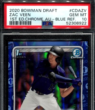 best Zac Veen rookie cards