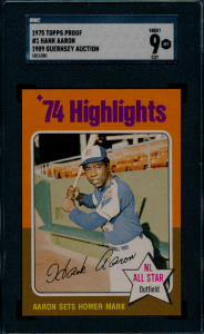 1975 Topps Hank Aaron Baseball Card