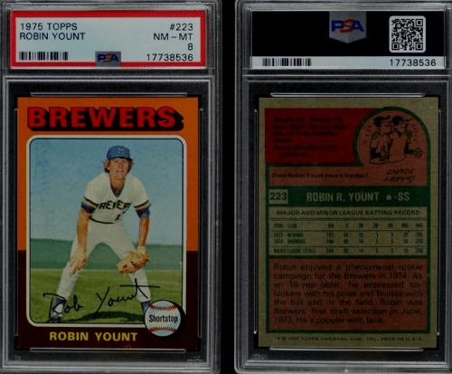1975 Robin Yount Topps RC 223