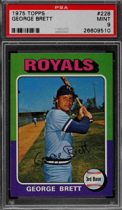 1975 Topps George Brett baseball card RC