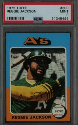 1975 Reggie Jackson Topps baseball card rookie