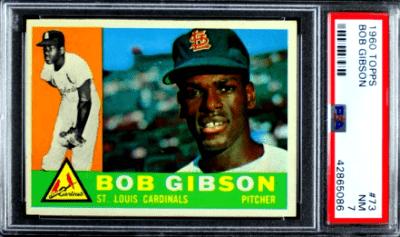 1960 Bob Gibson Baseball Card