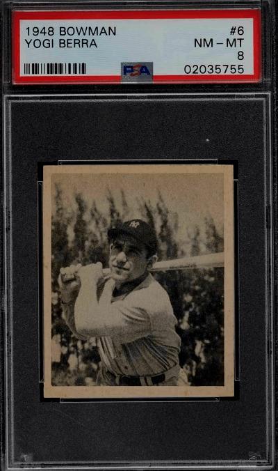 Yogi Berra Baseball Card