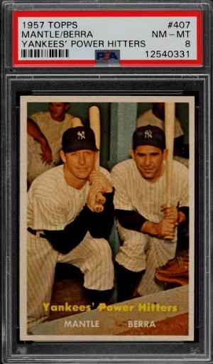 1957 Topps Mickey Mantle & Yogi Berra