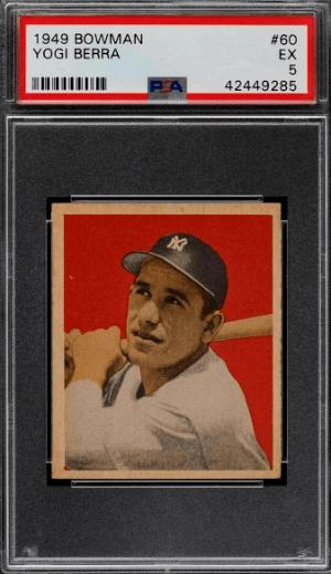 1949 Yogi Berra Bowman rookie card