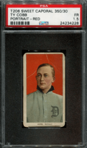 T206 Ty Cobb Sweet Caporal Portrait Red