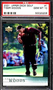 2001 Tiger Woods Upper Deck Rookie card