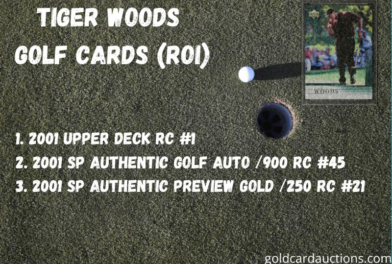 tiger woods golf cards