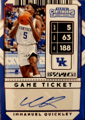 2020 Immanuel Quickley Panini Contenders Ticket Autograph RC #5