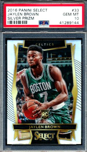 Jaylen Brown Panini Select rookie card