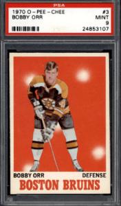 1970 Bobby Orr hockey card
