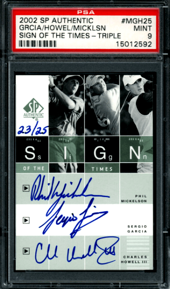 Phil Mickelson Golf Rookie Card Value