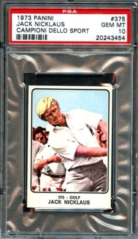 Jack Nicklaus golf rookie card