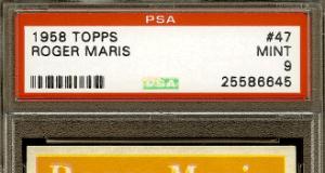 Roger Maris Topps baseball card
