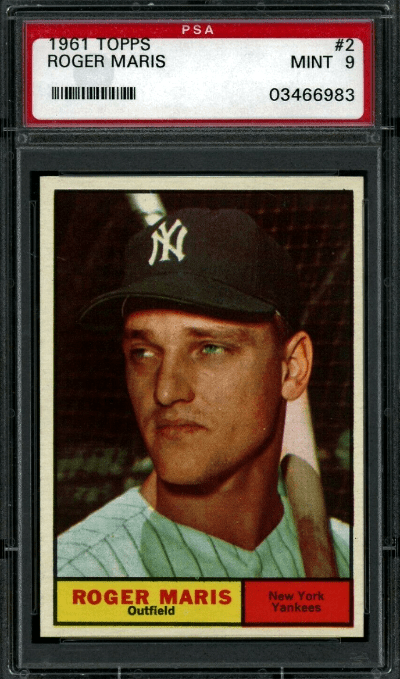 Best Roger Maris Baseball Cards