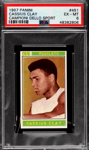 1967 Panini Campioni Dello Sport Boxing Cassius Clay Muhammad Ali Card