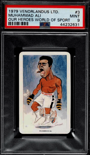 1979 Venorlandus Our Heroes World Of Sport Boxing Muhammad Ali Card