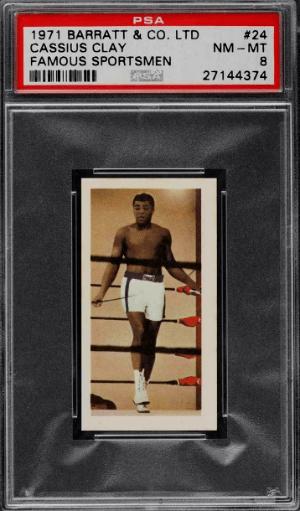 1971 Barratt Famous Sportsmen Boxing Cassius Clay Muhammad Ali boxing card