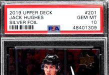 Jack Hughes upper deck rookie cards