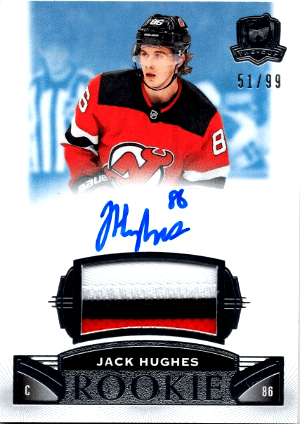 Jack Hughes Upper Deck The Cup rookie card