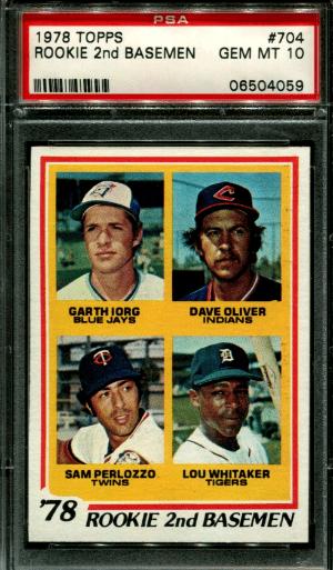 1978 Lou Whitaker Topps baseball