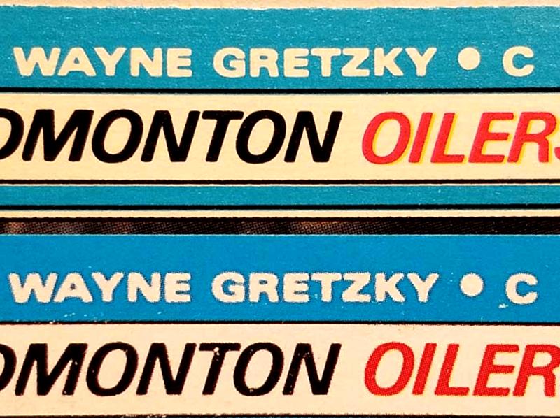 Wayne Gretzky rookie card reprint