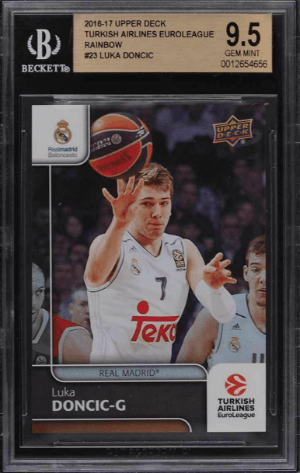 016 Luka Doncic Upper Deck Turkish Airlines EuroLeague Rainbow rookie card