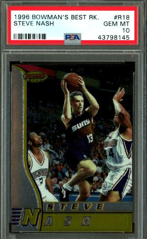 1996 Steve Nash Bowman's Best rookie card