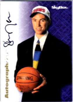 Steve Nash Skybox Premium Autographics rookie card