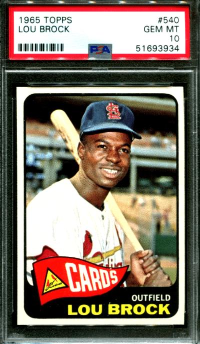Lou Brock Baseball Card