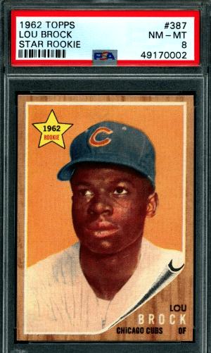 1964 Lou Brock Baseball Card