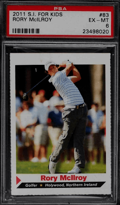 Rory McIlroy rookie cards