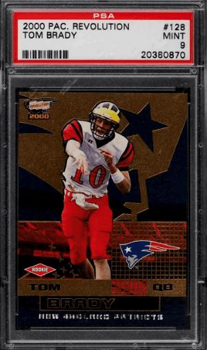 2000 Tom Brady Revolution rookie card