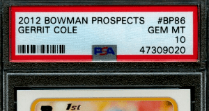 Gerrit Cole Bowman rookie card