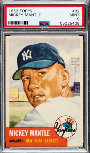 1953 topps mantle baseball card