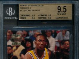 Topps Stadium Club Kobe Bryant rookie card.