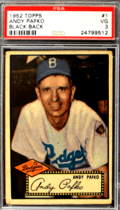 952 Topps Andy Pafko