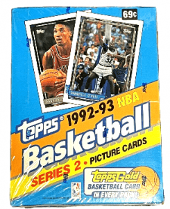 1992 topps series 2 basketball card boxes for sale
