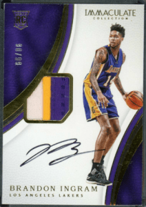 2016 Brandon Ingram Immaculate Collection rookie cards