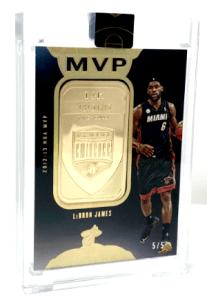 2019 LeBron James Panini Eminence Finals MVPs Gold/Silver Bar #7
