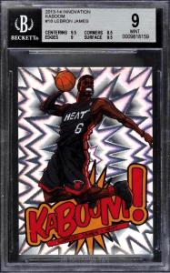 2013 LeBron James Panini Innovation Kaboom card
