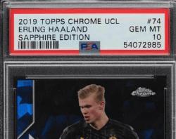 best erling Haaland rookie card