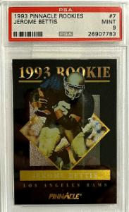 1993 Jerome Bettis Pinnacle Rookie Card