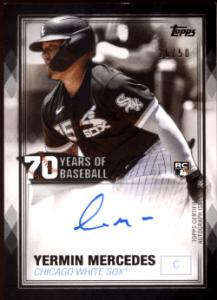 2021 Yermin Mercedes Topps Series 1 70 Years of Baseball