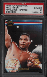 mike tyson boxing card