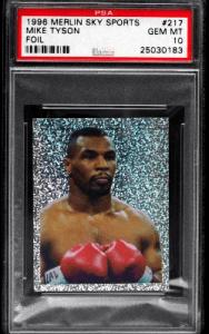 Mike Tyson Boxing Card Checklist