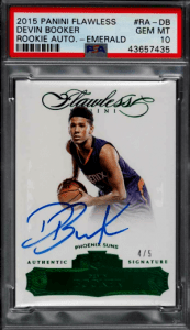 2015 Devin Booker Panini Flawless Auto rookie
